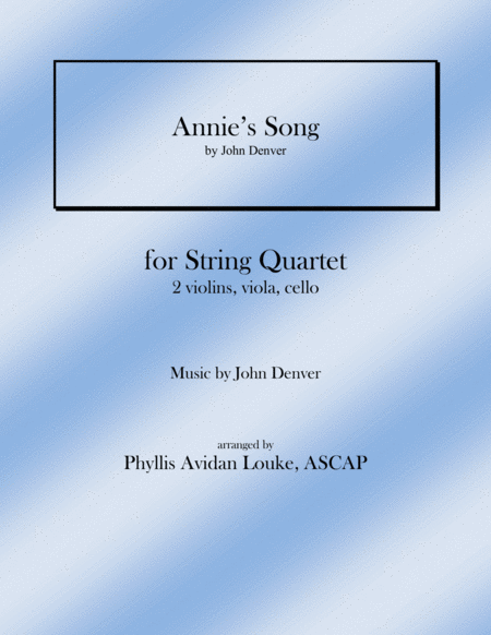 Annie's Song for String Quartet