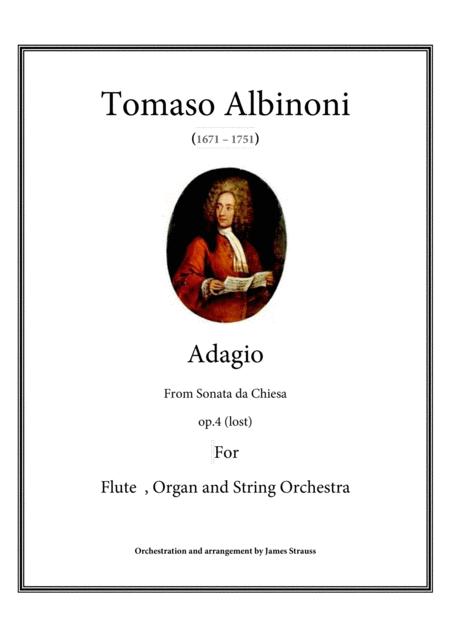 Adagio in g minor for flute, stringsand organ