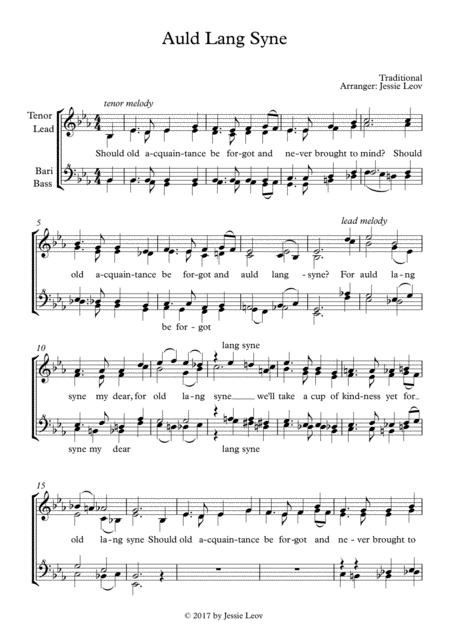 Auld Lang Syne (barbershop/a cappella)