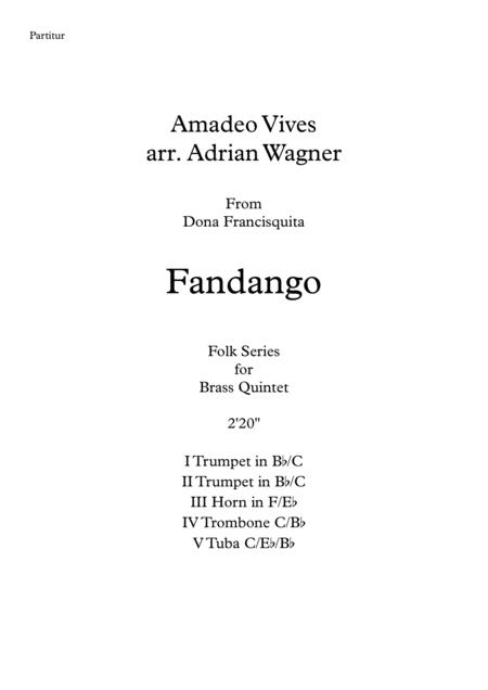 Fandango (Amadeo Vives) Brass Quintet arr. Adrian Wagner