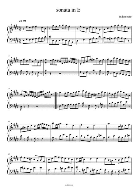 Sonata in E
