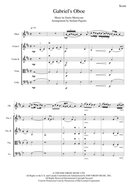 Gabriel's Oboe (Nella Fantasia) - From