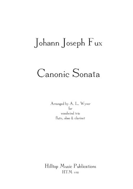 Sonata Canonic arr. flute, oboe and clarinet