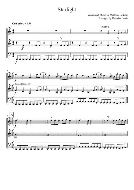 Starlight (Violin 1, Violin 2, Cello)