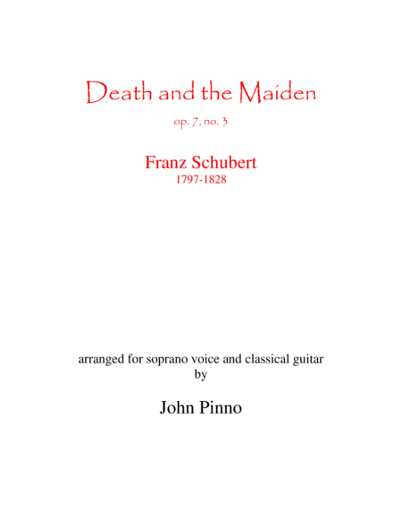 Death and the Maiden for soprano and classical guitar