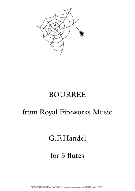BOURREE from ROYAL FIREWORKS MUSIC Handel Easy arrangement for 3 flutes