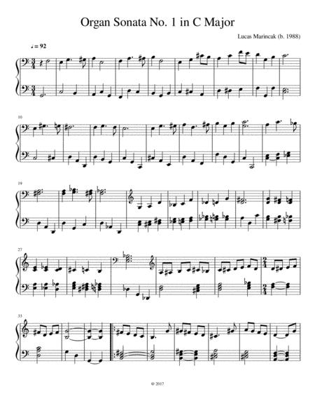 Organ Sonata No. 1 in C Major