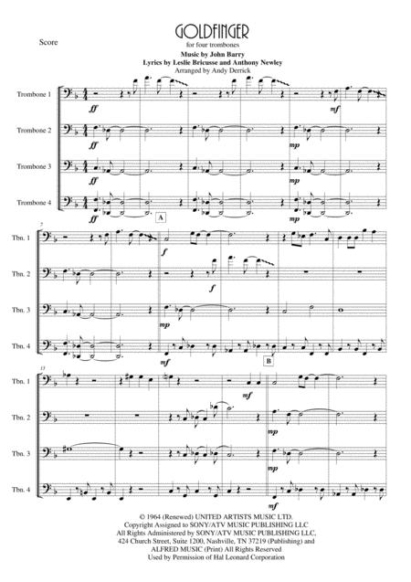 Goldfinger for four trombones