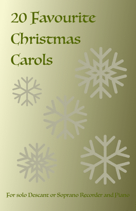 20 Favourite Christmas Carols for solo Recorder and Piano