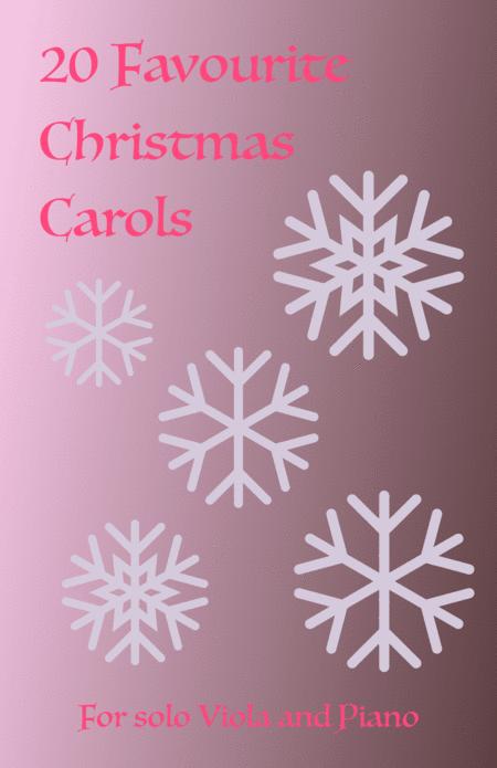 20 Favourite Christmas Carols for solo Viola and Piano