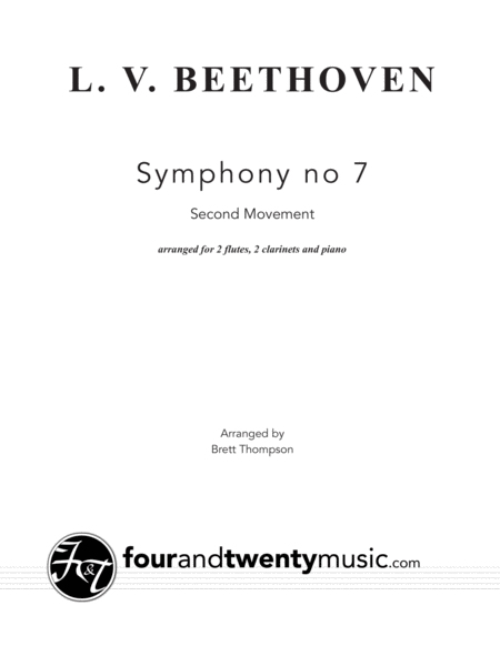 Allegretto, second movement, from Symphony no 7