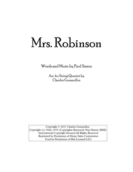 Mrs. Robinson, Simon & Garfunkel - String Quartet