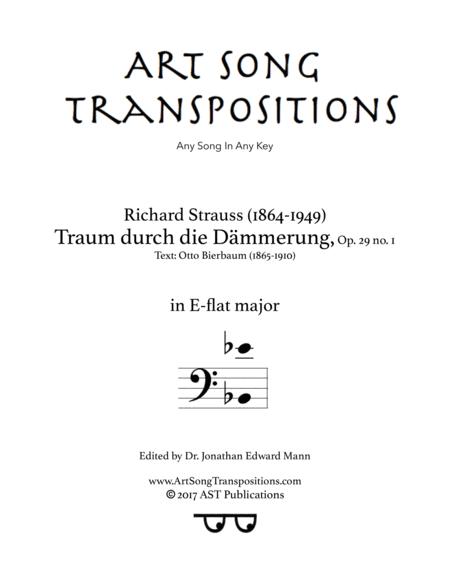 Traum durch die Dämmerung, Op. 29 no. 1 (E-flat major, bass clef)
