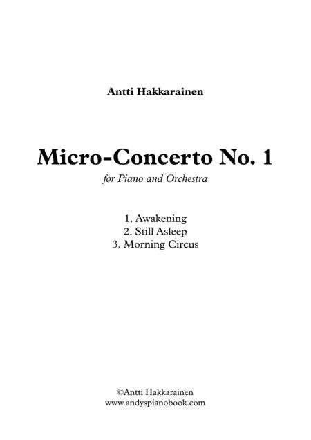 Micro-Concerto No. 1 for Piano and Orchestra