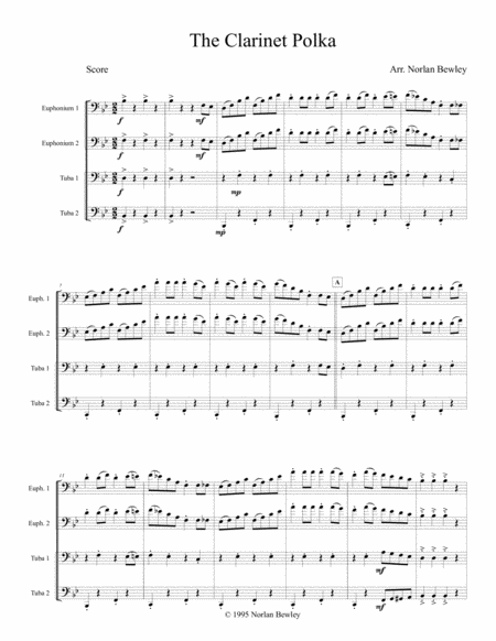 Clarinet Polka - Tuba/Euphonium Quartet