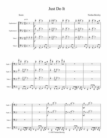 Just Do It - Tuba/Euphonium Quartet