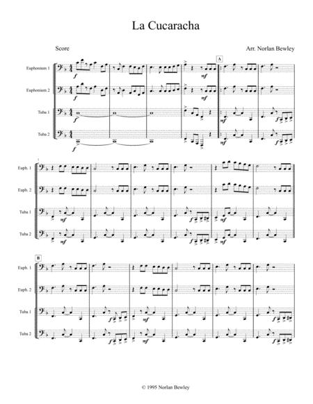 La Cucaracha - Tuba/Euphonium Quartet