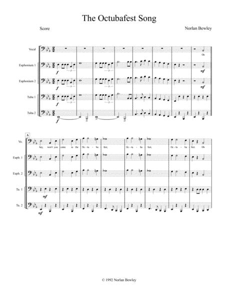 The Octubafest Song - Tuba/Euphonium Quartet