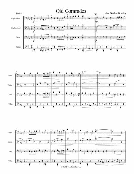 Old Comrades March - Tuba/Euphonium Quartet