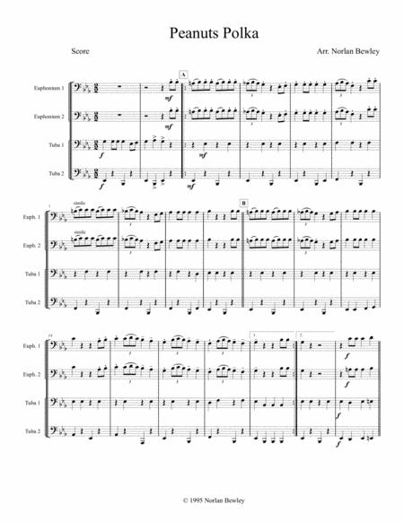 Peanuts Polka - Tuba/Euphonium Quartet