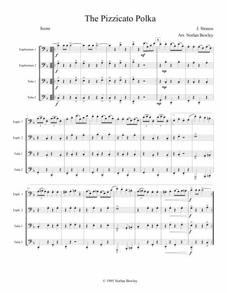 Pizzicato Polka - Tuba/Euphonium Quartet