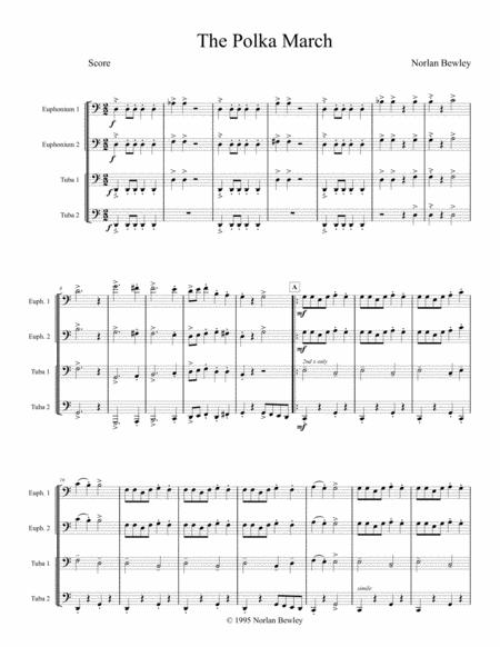 The Polka March - Tuba/Euphonium Quartet