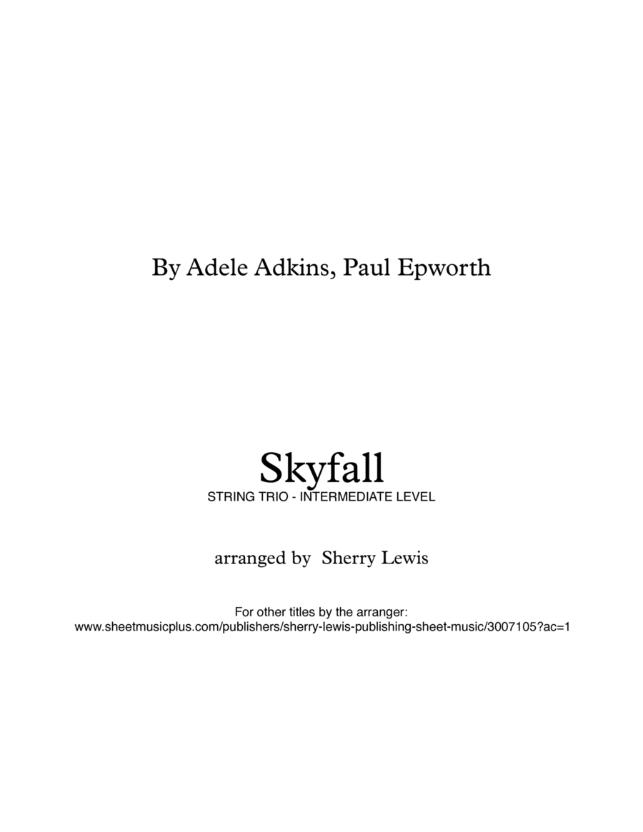 Skyfall  STRING TRIO