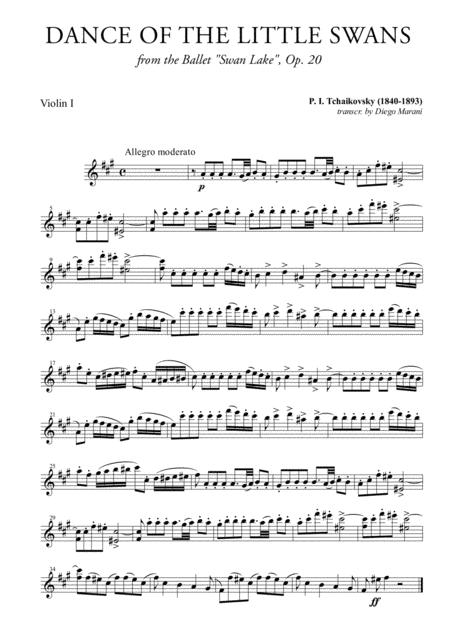 Dance of the Little Swans for String Quartet