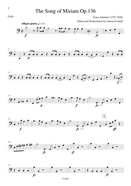 Schubert - The Song of Miriam Op.136 - Cello