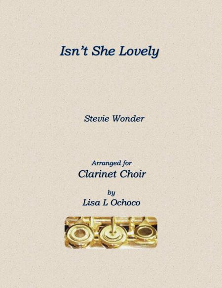 Isn't She Lovely for Clarinet Choir