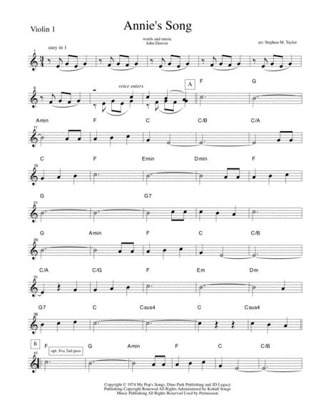 Annie's Song (string quartet)