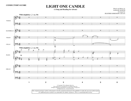 Light One Candle - Full Score