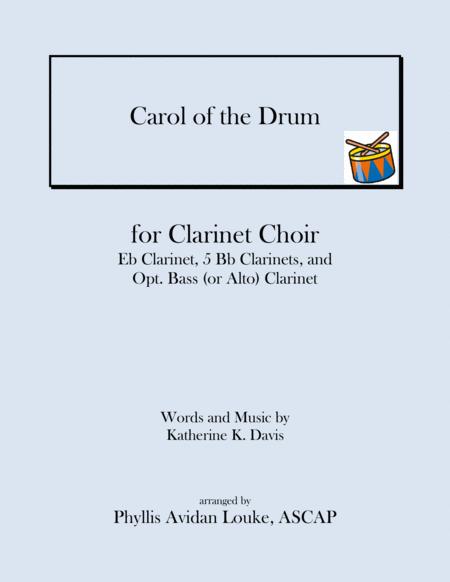 The Little Drummer Boy for Clarinet Choir