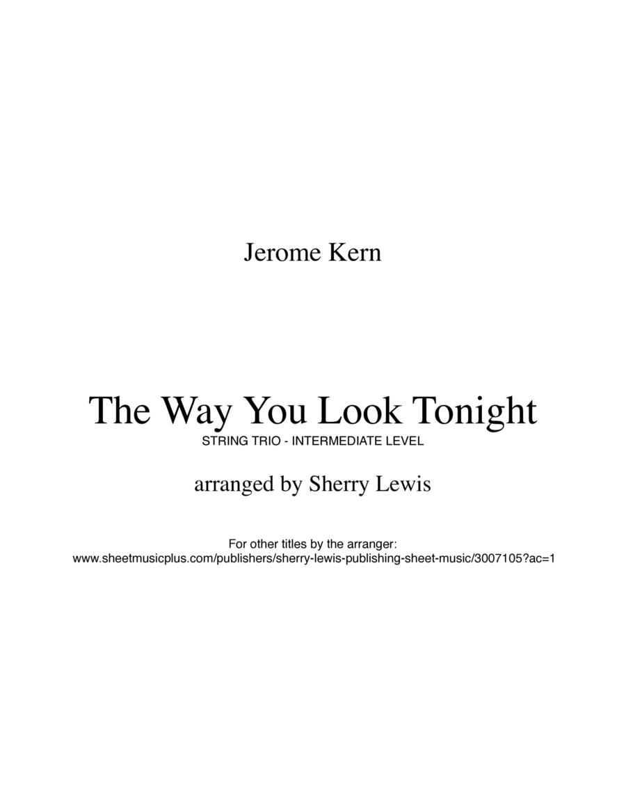 The Way You Look Tonight  STRING TRIO