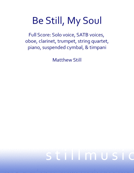 Be Still, My Soul - Full Score Orchestra