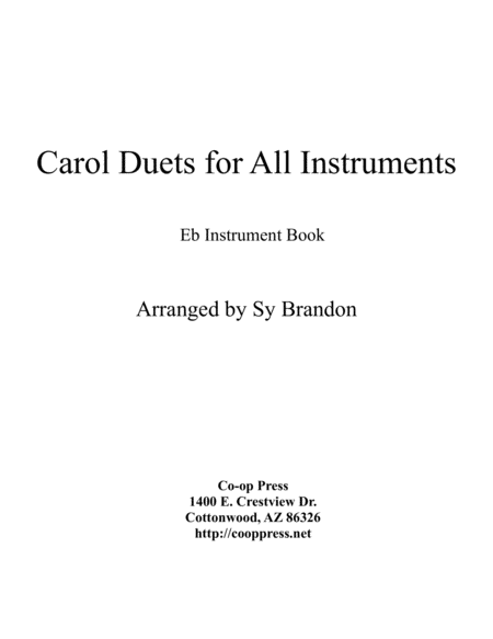 Carol Duets for all Instruments Eb Book