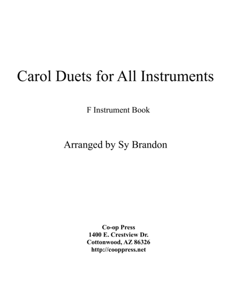 Carol Duets for all Instruments F Book