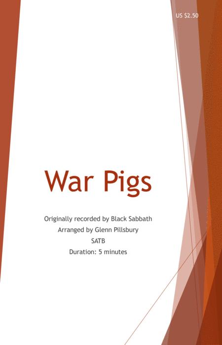 War Pigs (SATB)