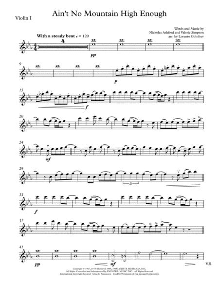 Ain't No Mountain High Enough - String quartet