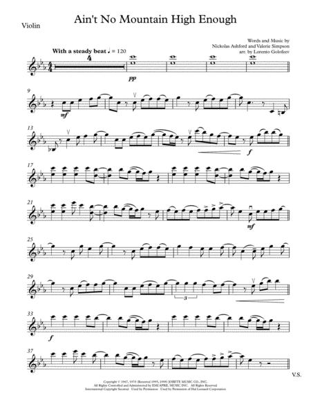 Ain't No Mountain High Enough - String Trio