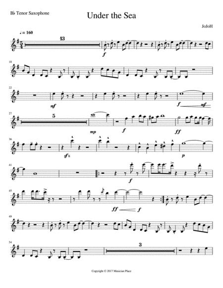 Under the Sea - Bb Tenor Saxophone