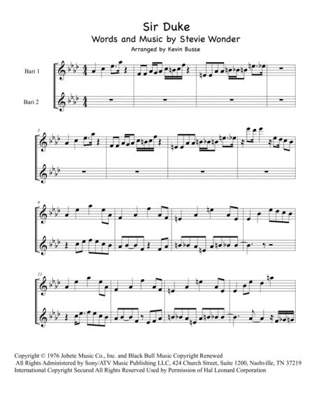 Sir Duke - Bari Sax Duet