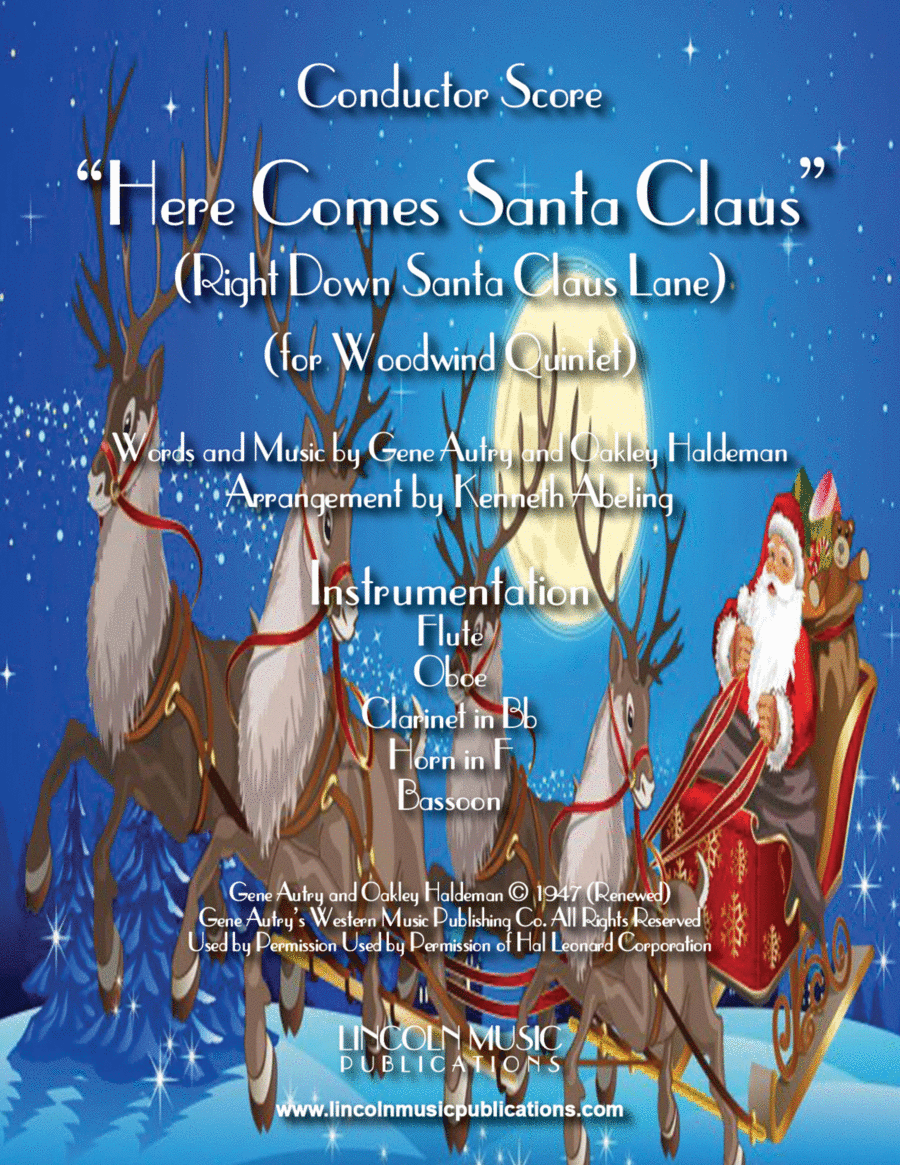Here Comes Santa Claus (for Woodwind Quintet)
