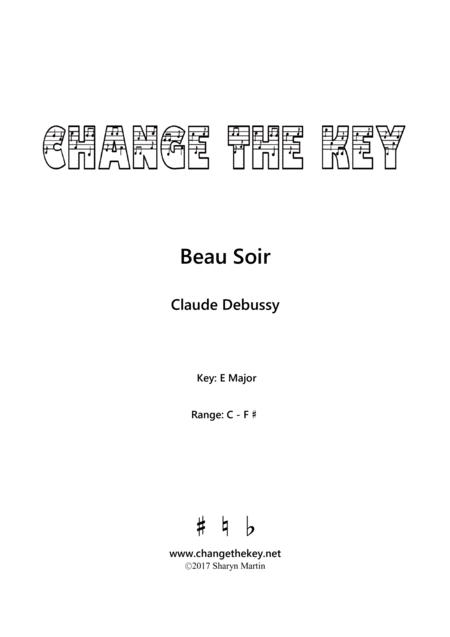 Beau Soir - E Major