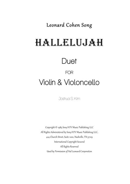 Hallelujah for Violin & Cello