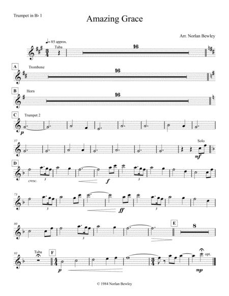 Amazing Grace - Brass Quintet