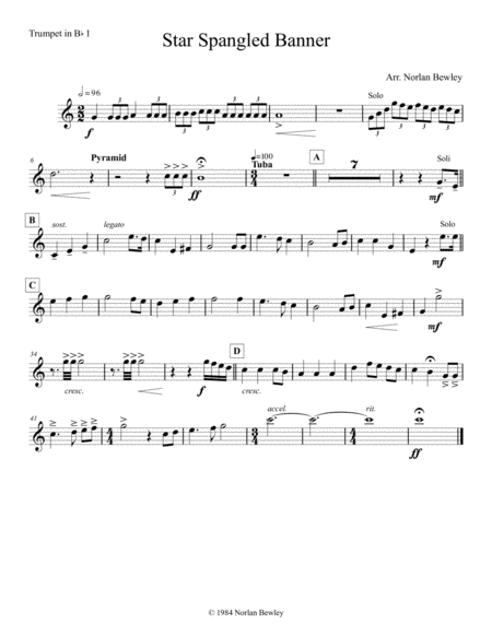 Star Spangled Banner - Brass Quintet