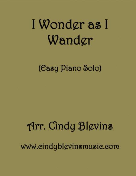 I Wonder as I Wander, Easy Piano Solo