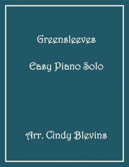 Greensleeves, Easy Piano Solo