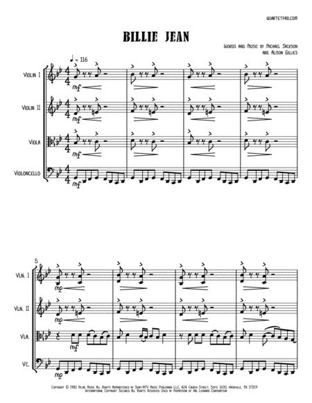 Billie Jean - String Quartet